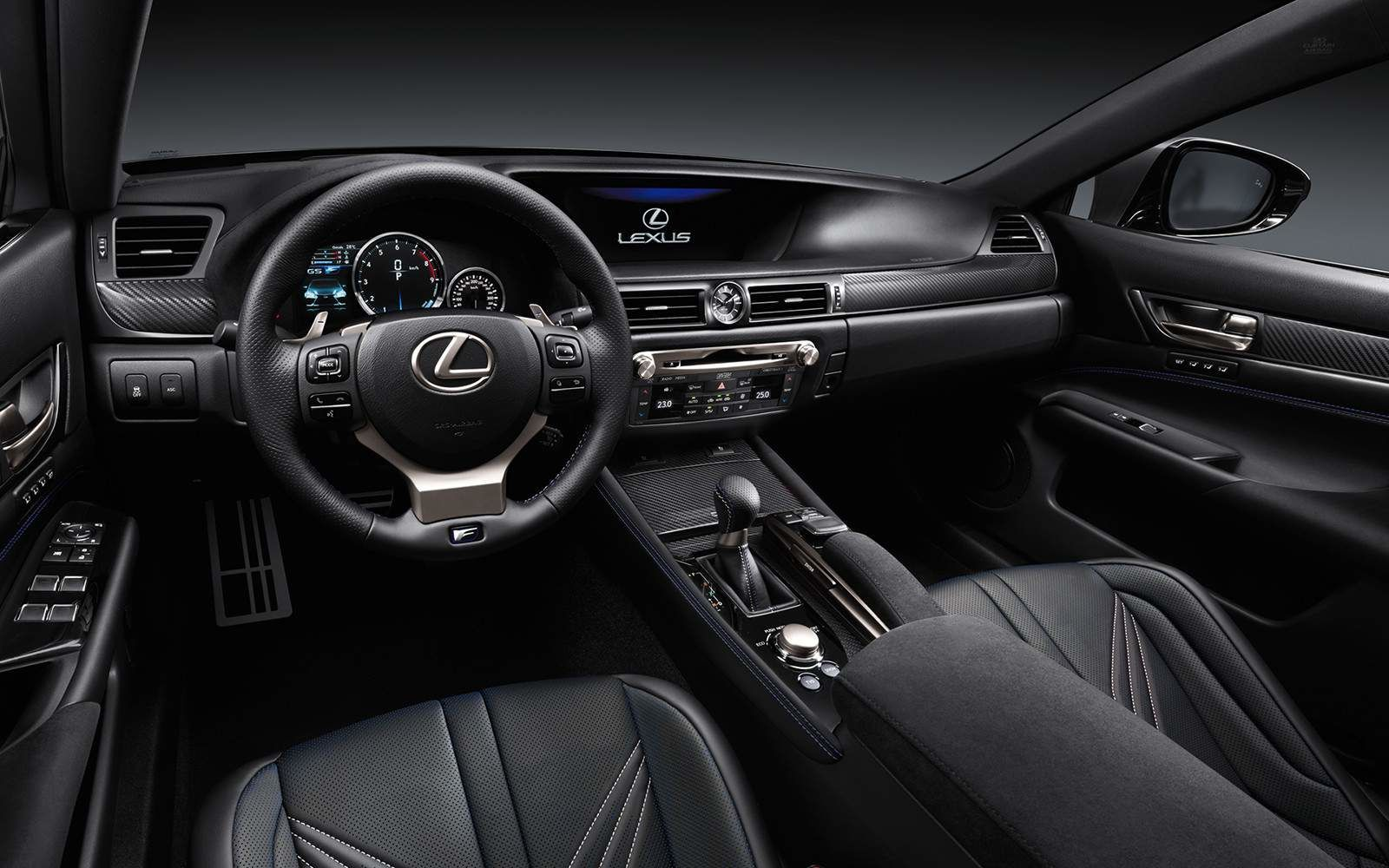 Lexus 2020 Gsf Interior Black Leather L