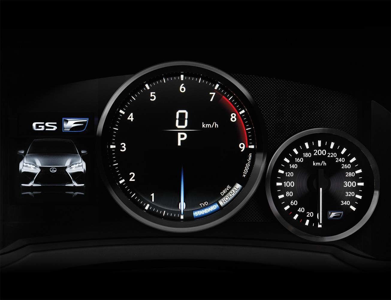 Lexus 2020 Gsf Interior Meter L