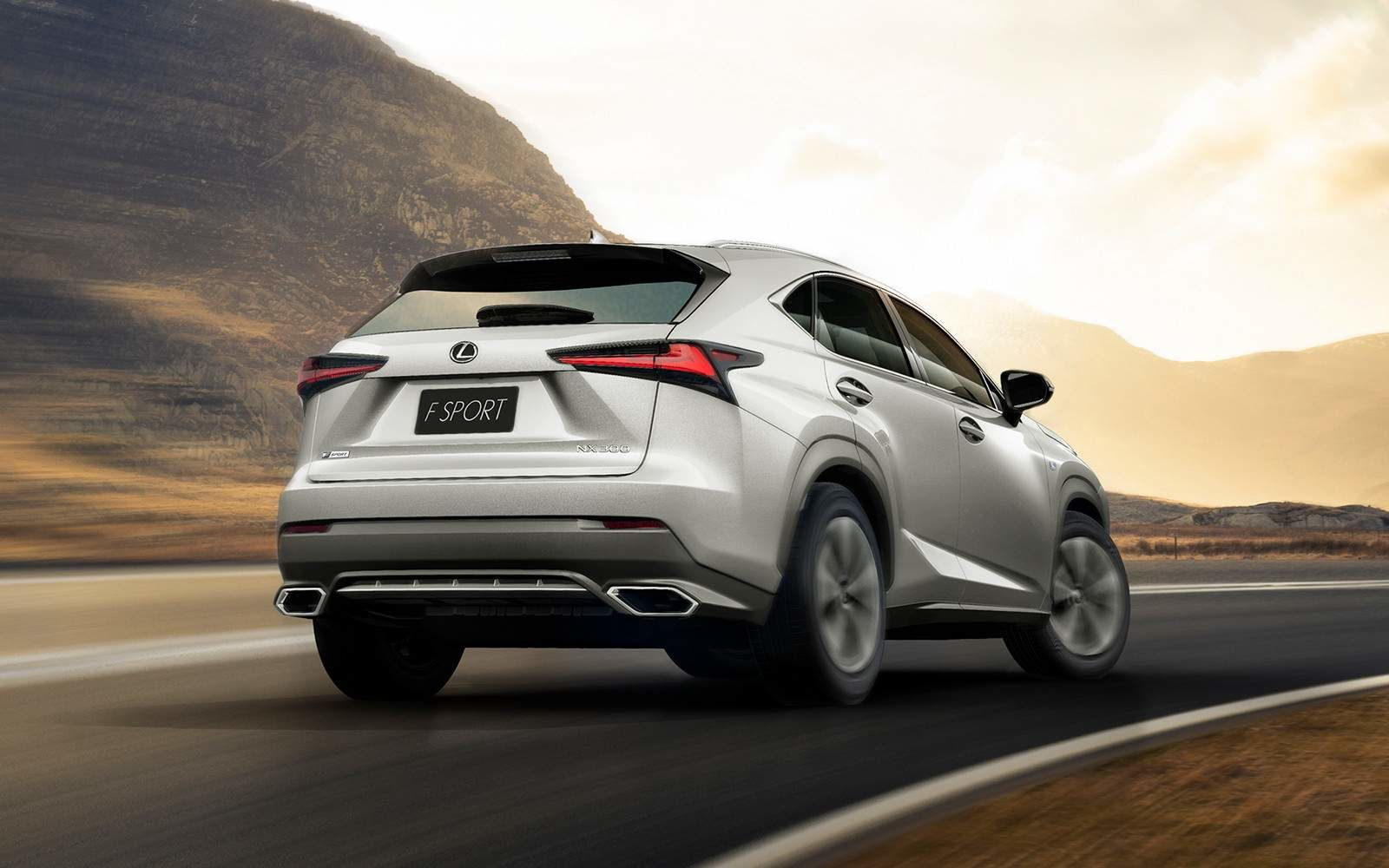 Lexus 2020 Nx 300 Atomic Silver Rear L