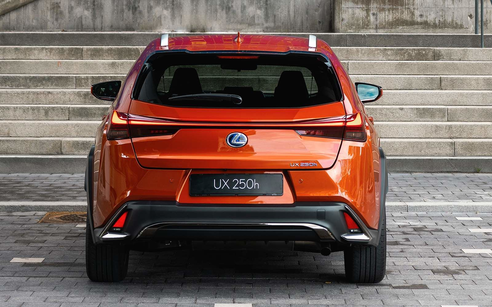 Lexus 2020 Ux 250h Fsport Cadmium Orange Rear L